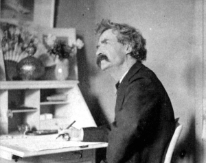 Mark Twain Writing