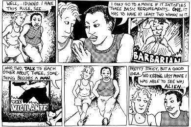 Dykes to Watch Out For, the Comic Which Articulated the Bechdel Test